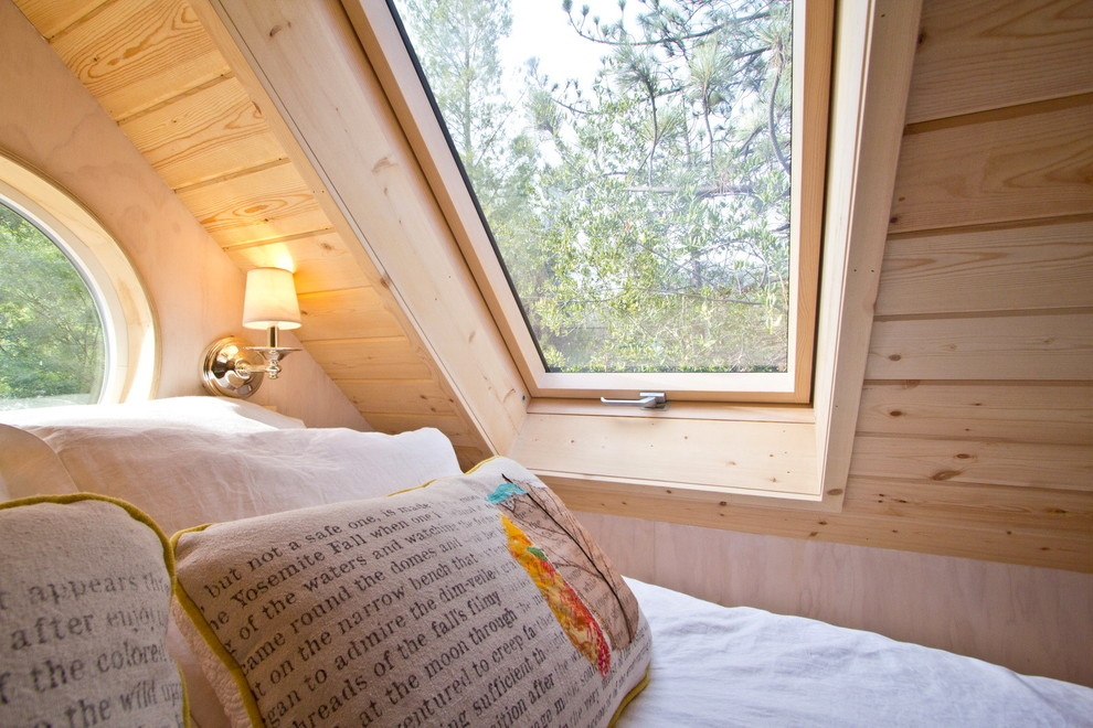 Skylights in the interior of the bedroom Tiny House