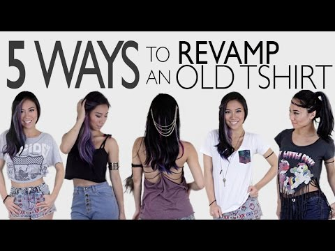 5 Ways To Revamp An Old TShirt (NO SEW!) – The DIY Project (EP 4)