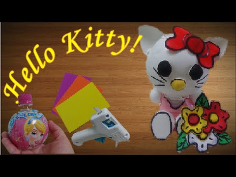"DIY Crafts: Cute ""Hello Kitty"" out of Plastic Bottles"