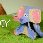 DIY Elephant Out Of McDonald's Cardboard Cup Holder – Cup Holders Recycled Crafts