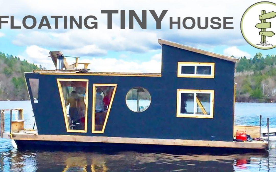 Living on a 4 Season Houseboat – Beautiful Floating Tiny House!