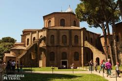 a középkori San Vitale-templom Ravennában