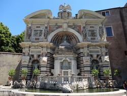 Tivoli - az Orgona-szökőkút a Villa d'Este kertjében