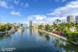 luxusingatlanok Miami Beach csatornái mentén