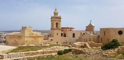a Victoria fölé magasodó fellegvár Gozo szigetén