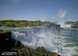 a Niagara-vízesés dübörgő víztömege