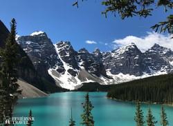 a Moraine-tó a Banff Nemzeti Parkban