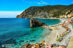 Monterosso, a Cinque Terre fö településének tengerpartja