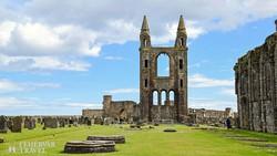 a középkori katedrális romjai St. Andrews-ban