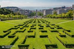 Lisszabon városképe a VII. Eduárd parkból