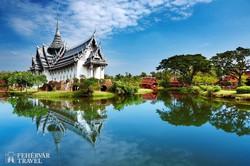 a Sanphet Prasat palota Thaiföld skanzenjében