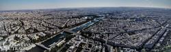 Párizs látképe az Eiffel-toronyból