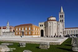 Zadar: a fórum a Szent Donát-kápolnával