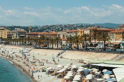 Nizza – az Angol sétány menti strand