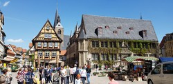hangulatos quedlinburgi utcakép