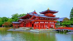 Kyoto: a Heian-szentély egy részlete