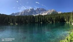 a Karer-tó a Dolomitokban