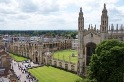a cambridge-i King's College épületegyüttese, jobbra a hatalmas kápolnával