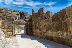 az Oroszlános kapu Mükénében