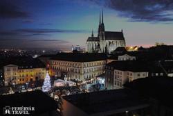 Brno főtere adventi hangulatban