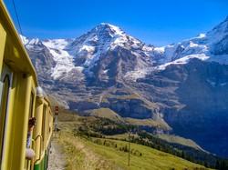 kilátás a Jungfrau fogaskerekűről