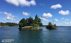 apró szigetek a Szt. Lőrinc-folyón