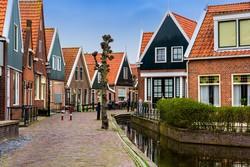 Volendam jellegzetes lakóházai