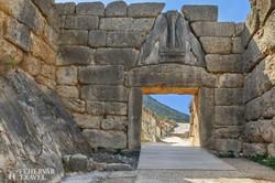 a híres Oroszlános kapu Mükénében