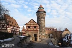 a nürnbergi vár az óváros szélén