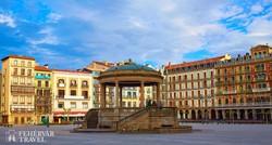 Pamplona óvárosának egyik központi tere, a Plaza del Castillo