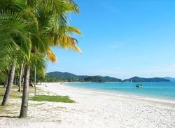 homokos tengerpart Langkawi szigetén