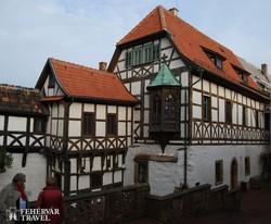 középkori házak Wartburg várában