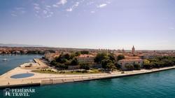 Zadar óvárosa madártávlatból