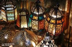 lámpások a Khan el Khalili bazárban