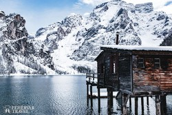 a Pragsi-tó téli köntösben