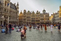 gyönyörű paloták Brüsszel főterén