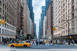tipikus New York-i utcakép