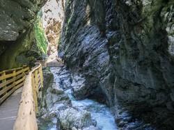 a Liechtenstein-szurdok egy vadregényes részlete