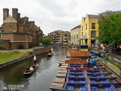 a velencei gondolázás angol változata: puntolás Cambridge-ben