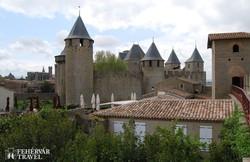 Carcassonne erődített óvárosa – részlet