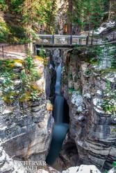 a Maligne-kanyon egy részlete a Jasper Nemzeti Parkban