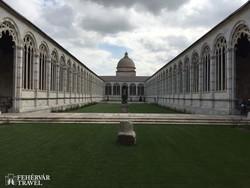 Camposanto (temető) a Csodák tere mellett Pisában