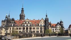 a Residenzschloss (uralkodói kastély) Drezdában