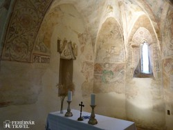 Aquila János freskói a veleméri templomban - részlet