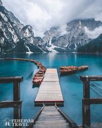 a Pragsi-tó egy részlete