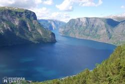 a Sogne-fjord madártávlatból