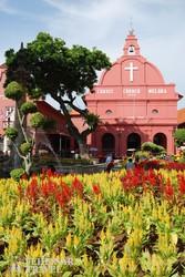 """Melaka: a """"Vörös tér"""" egy hangulatos részlete"""