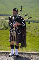 tradicionális skót dudás