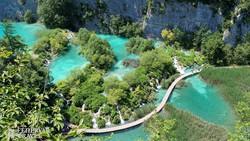 a Plitvicei-tórendszer – részlet