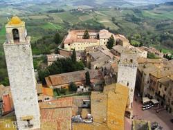 panoráma San Gimignano egyik tornyából